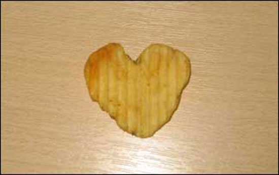 Valentine's Day Heart Crisp