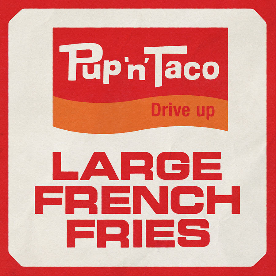 Pup 'n' Taco Vintage Restaurant French Fries Bag Rebuild