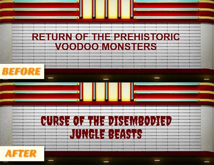 B-movie Title Generator - Font Update