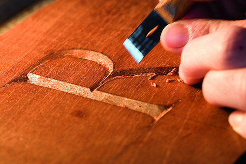 Hand Carved Lettering