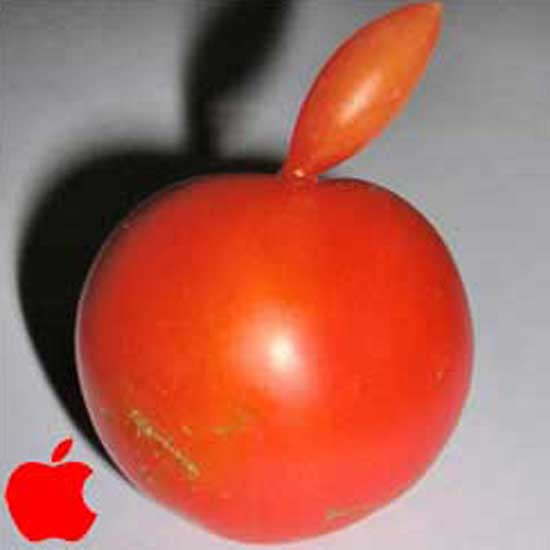 Tomato As Apple Logo